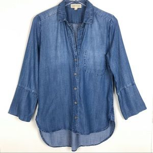 Anthropologie | Cloth & Stone Blue Chambray Top